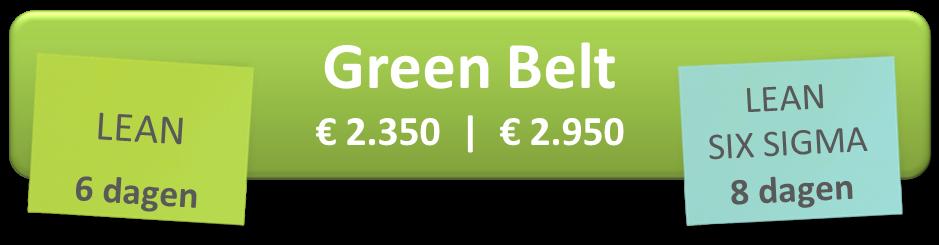 Lean Six Simga Green Belt Training