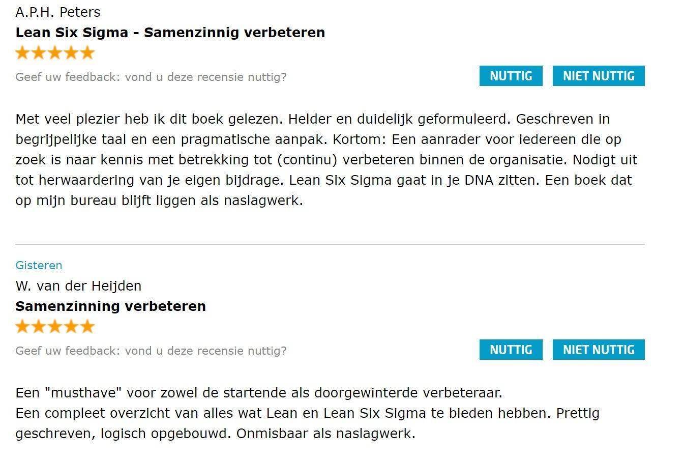 Reviews Lean Six Sigma Partners